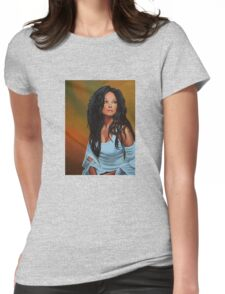 Diana Ross painting Womens Fitted T-Shirt