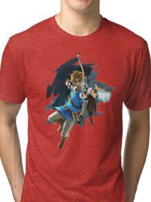 Link from Zelda Wii U: Breath of the Wild Tri-blend T-Shirt