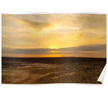 Sunset Argentina desert landscape at sunset  Poster