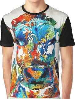 Colorful Cow Art - Mootown - By Sharon Cummings Graphic T-Shirt