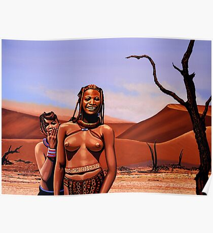 Himba Girls Of Namibia Poster