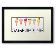 Game of Cones Framed Print