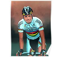 Cadel Evans painting Poster