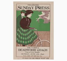 Artist Posters The famous deadwood coach free to every reader Sunday June 7th 1896 0506 Kids Tee