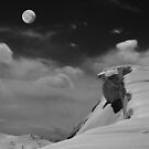 Moonrise Over a Cornice by Wayne King