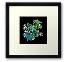 Creature From The Cat Lagoon Framed Print