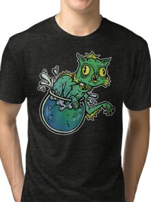 Creature From The Cat Lagoon Tri-blend T-Shirt