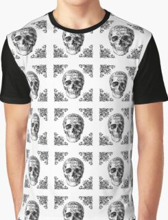 "skull ""Born to die"" Graphic T-Shirt"