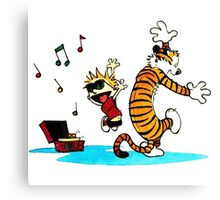 Calvin and Hobbes Music  Canvas Print