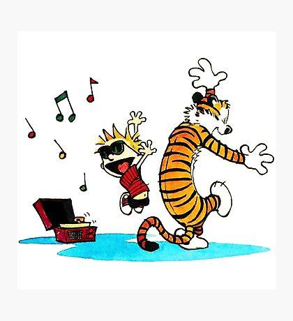 Calvin and Hobbes Music  Photographic Print