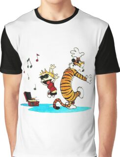 Calvin and Hobbes Music  Graphic T-Shirt