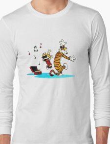 Calvin and Hobbes Music  Long Sleeve T-Shirt