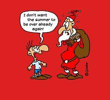 Cartoon: Santa Claus, Saint Nicholas, Father Christmas (1C) Womens Fitted T-Shirt