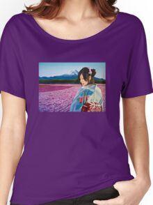 Spring in Japan Painting Women's Relaxed Fit T-Shirt