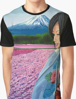 Spring in Japan Painting Graphic T-Shirt