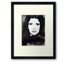 Judy Garland Charcoal Framed Print