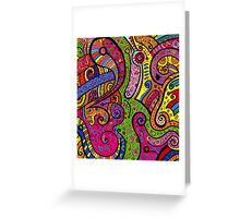 Psychedelic pattern Greeting Card