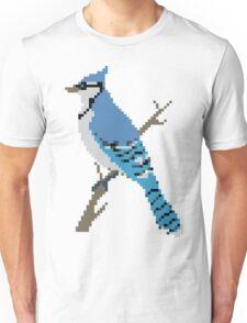 Pixel Blue Jay Unisex T-Shirt