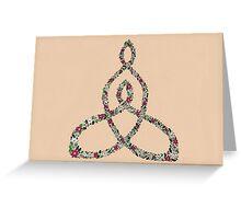 Celtic Motherhood Floral Knot Greeting Card