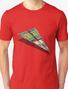 CRACKED Paper Airplane 109 Pattern T-Shirt
