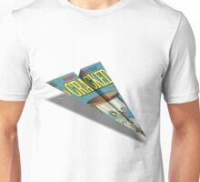 CRACKED Paper Airplane 109 Pattern Unisex T-Shirt