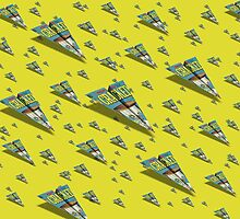 CRACKED Paper Airplane 109 Pattern by YoPedro