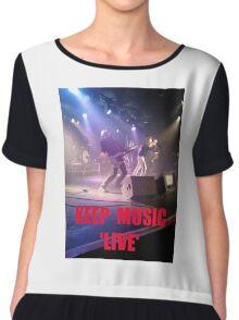 Music Keep Music 'Live' Chiffon Top