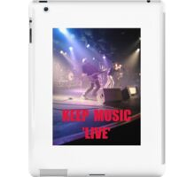 Music Keep Music 'Live' iPad Case/Skin