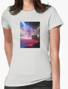 Music Keep Music 'Live' Womens Fitted T-Shirt