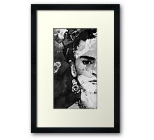 Black And White Frida Kahlo by Sharon Cummings Framed Print