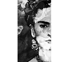 Black And White Frida Kahlo by Sharon Cummings Photographic Print
