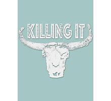 Killing it - Skull Photographic Print