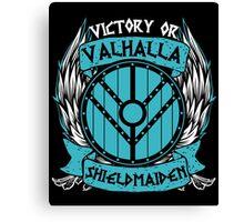 Lagertha Shieldmaiden Victory Or Valhalla 1 Canvas Print