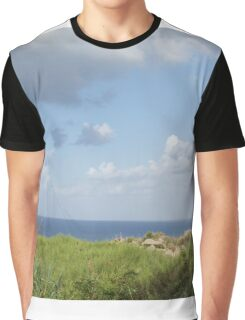 Grass and sea Graphic T-Shirt