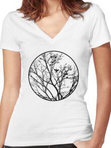 Birds Women's Fitted V-Neck T-Shirt