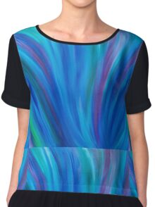 Midnight Melody Energy Painting  Chiffon Top