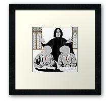 Discipline - Potter, Weasley, Snape Framed Print