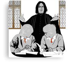 Discipline - Potter, Weasley, Snape Canvas Print