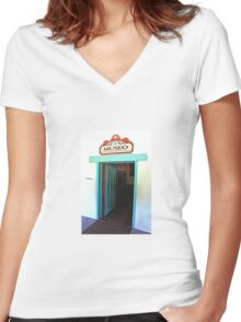 Museum Door in the Old Mission Women's Fitted V-Neck T-Shirt