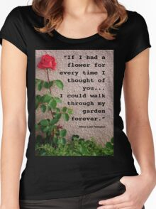 If I had a flower... Women's Fitted Scoop T-Shirt