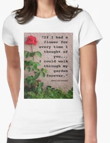 If I had a flower... Womens Fitted T-Shirt