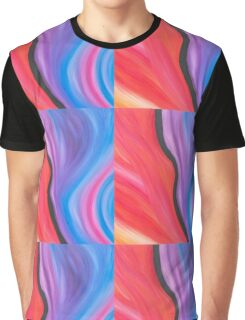 Fire & Ice Energy Painting  Graphic T-Shirt