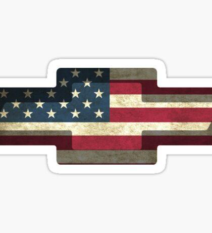 Chevy American Flag Sticker