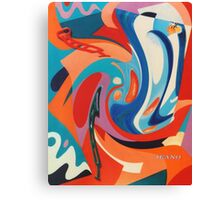 WONKY RED, WHITE & BLUE Canvas Print