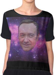 Spacey in Space Sweatshirt Chiffon Top