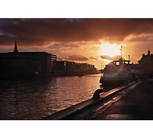 Harbour Sunset Copenhagen Photographic Print