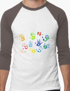 Colorful Arm Prints Abstract Men's Baseball ¾ T-Shirt