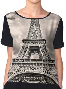 Eiffel Tower in Paris Chiffon Top