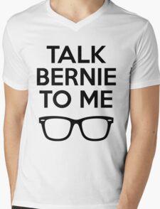 Talk Bernie To Me Mens V-Neck T-Shirt