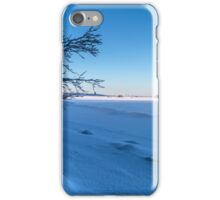 Frozen lake and blue sky iPhone Case/Skin